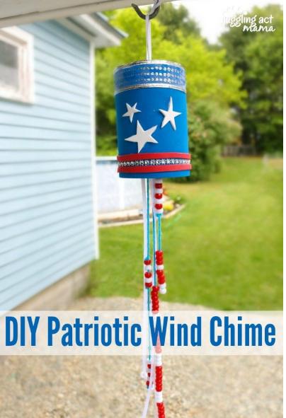 Patriotic wind chime