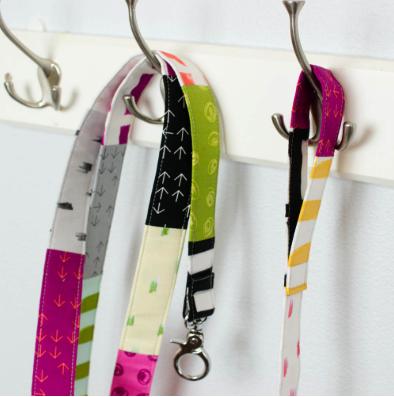 Adorable pet leash made from scrap fabrics