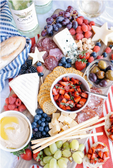 An ultimate patriotic cheeseboard for the summer holiday