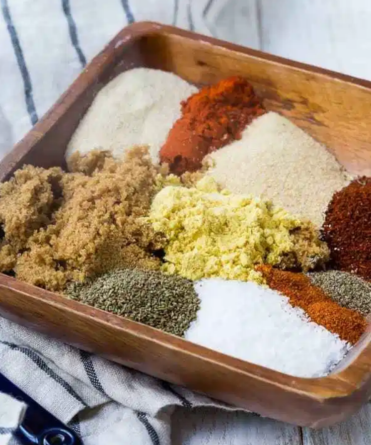 Homemade barbeque rub ingredients