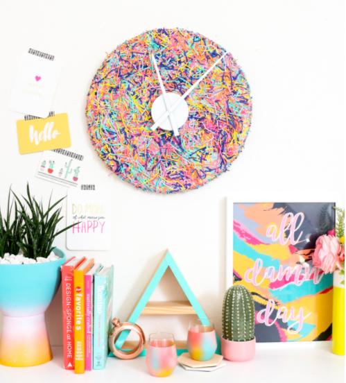 Colorful Confetti clock