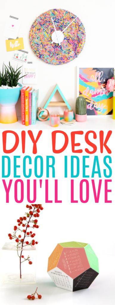 DIY Desk Decor Ideas You'll Love roundup