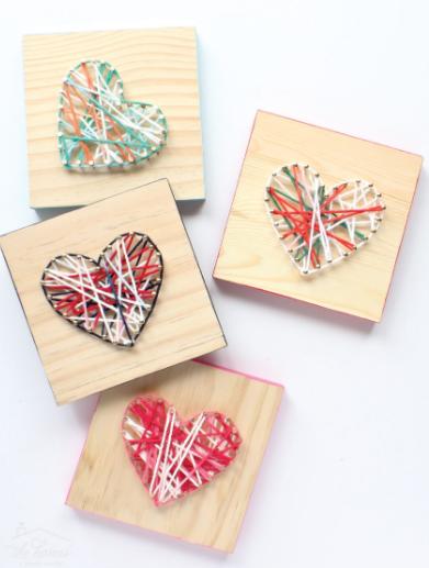 string art hearts