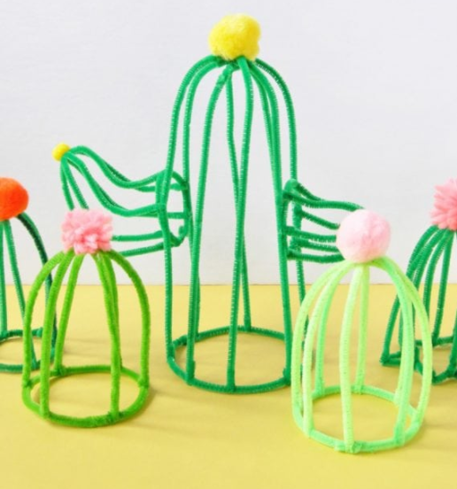 pipe cleaner crafts - cacti