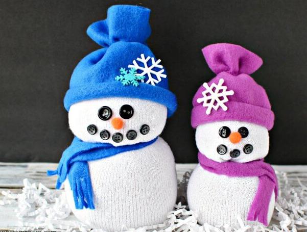 super easy sock snowman