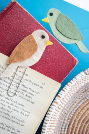 Bird felt bookmarks