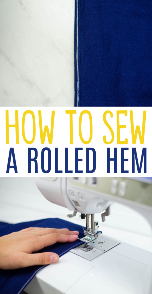tips for sewing a rolled hem