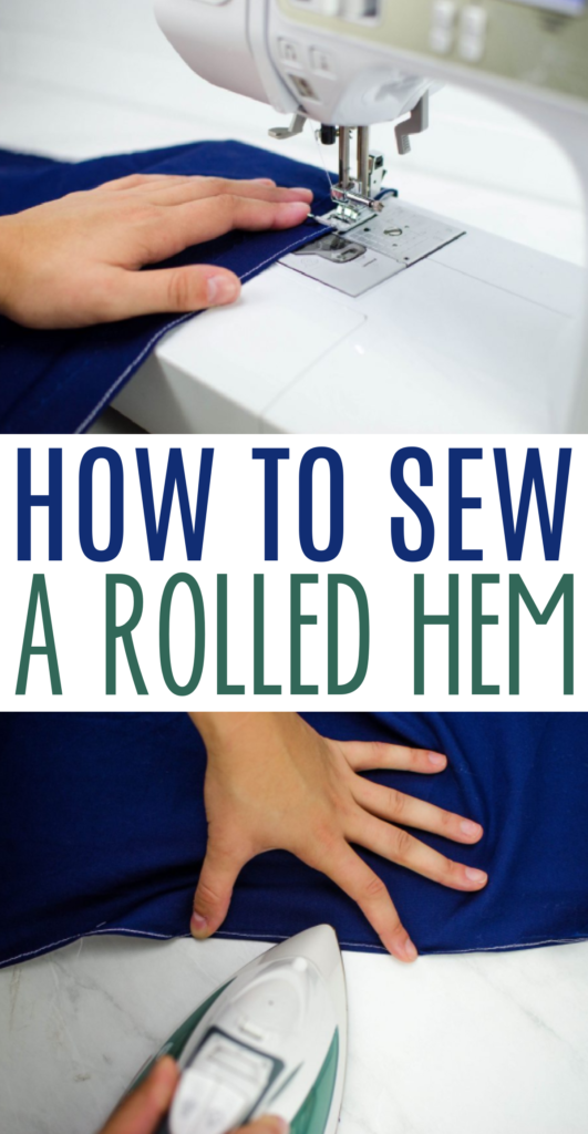 sew a rolled hem tutorial