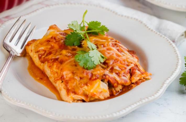 Homemade and delicious keto enchiladas