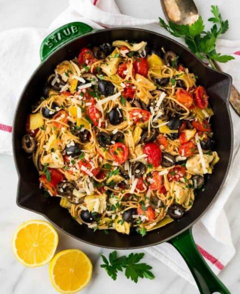 classic Mediterranean pasta
