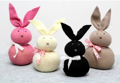 No-sew socks bunny