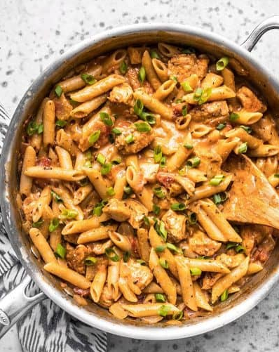 One pot creamy cajun chicken pasta