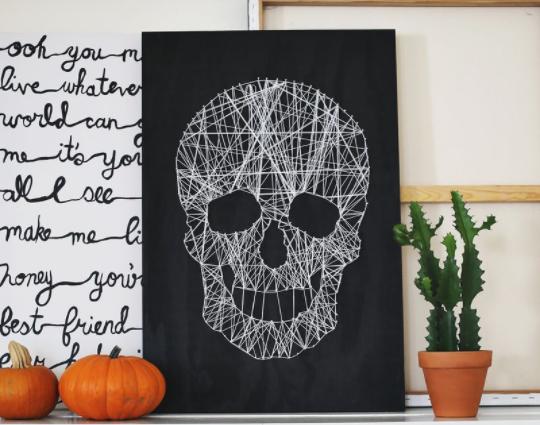 string art skull design