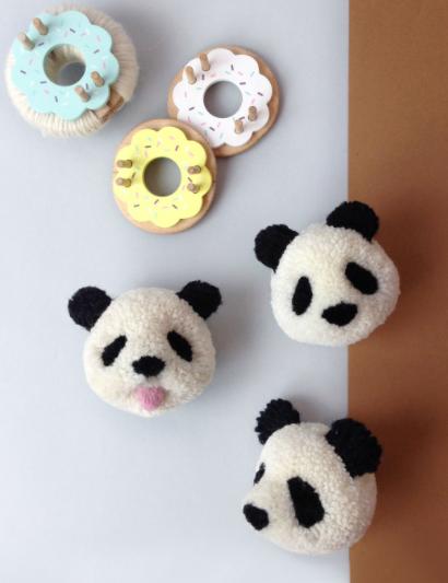Super cute panda pompom