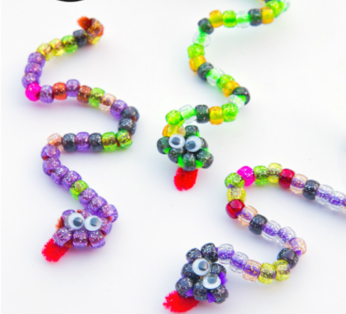 pipe cleaner beaded snake