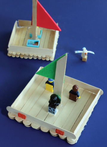 A boat made of popsicle sticks is a perfect craft to make for kids