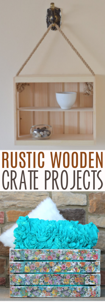 Rustic wooden crate projects roundup