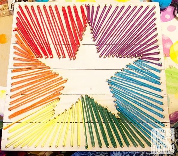 Super nice star string art