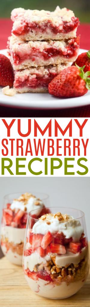 Yummy Strawberry recipes roundup