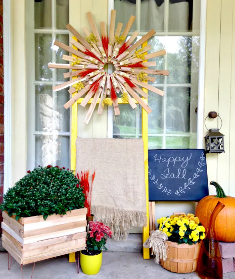 fall front porch holiday home decor