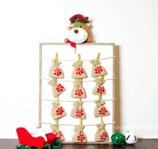 diy advent calendar for dogs cute animal craft projects