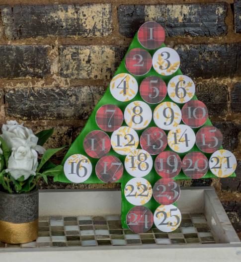 quick and easy diy christmas advent calendar holiday craft
