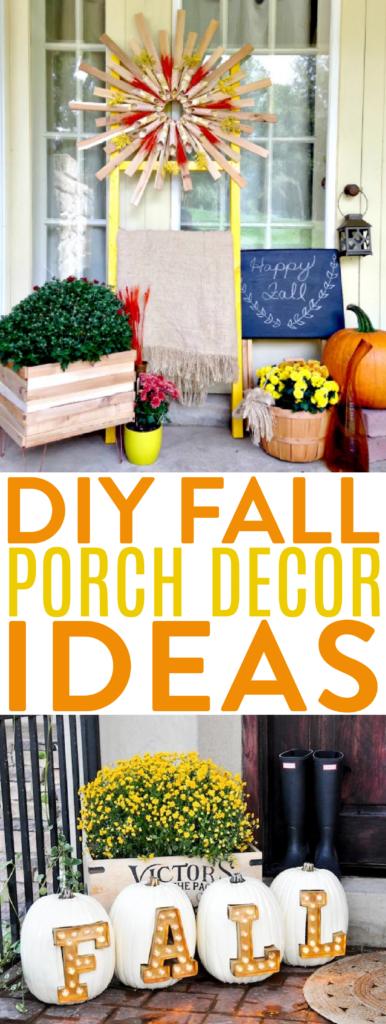 DIY Fall Porch Decor Ideas roundup