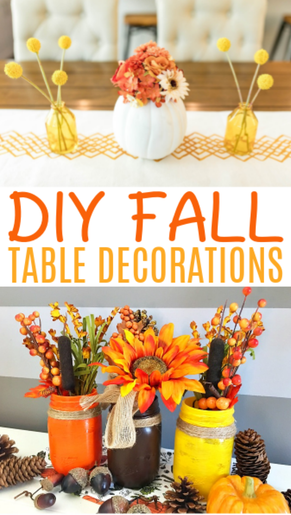 DIY Fall Table Decorations roundup