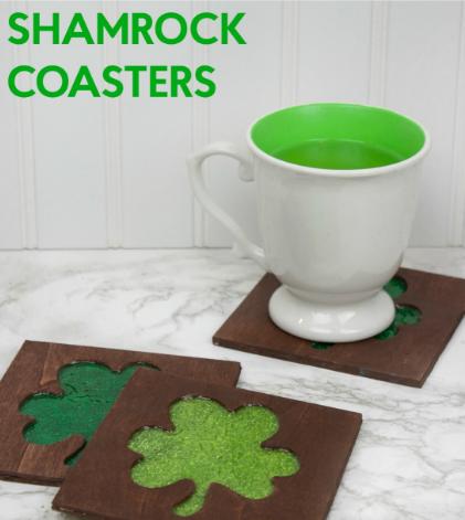 shamrock coasters