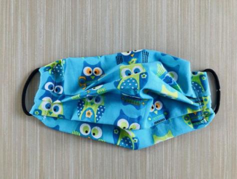 Owl designed cloth face mask