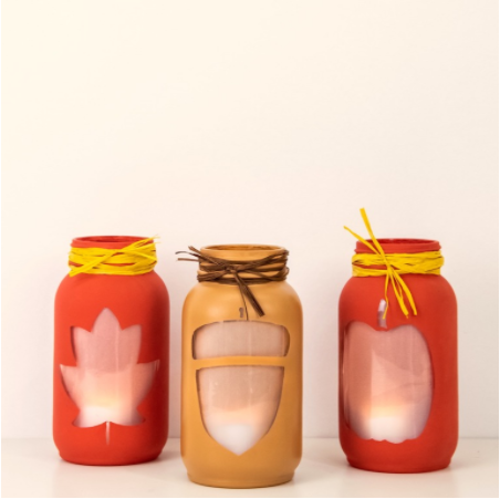 Fall luminaries perfect for fall centerpiece