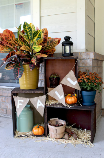 fall crate display holiday craft project