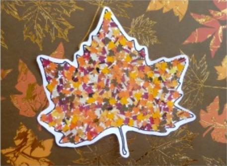 pretty leaf punch collage