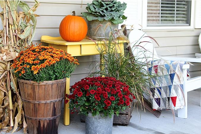 fall porch decor farmhouse style holiday craft