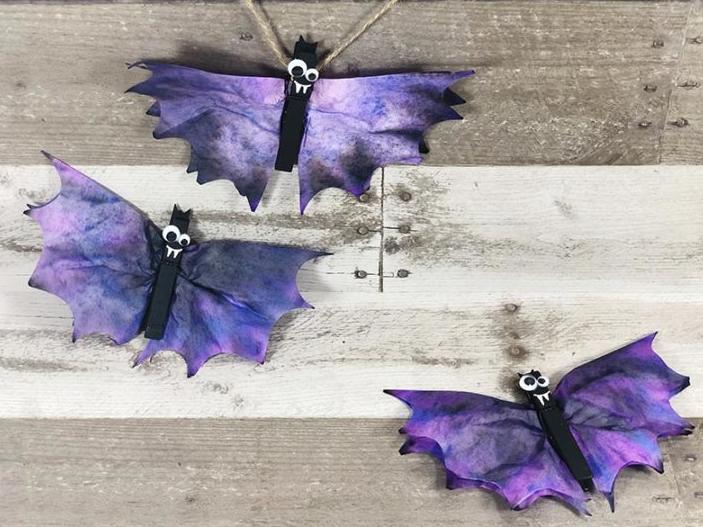 Halloween coffee filter bats