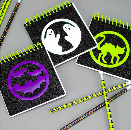 Halloween notebooks and pencils