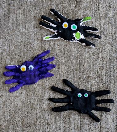 Handprint spiders keepsake