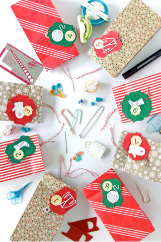 a knitters advent calendar colorful holiday cricut craft