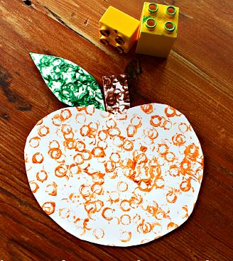 Lego stamped pumpkin