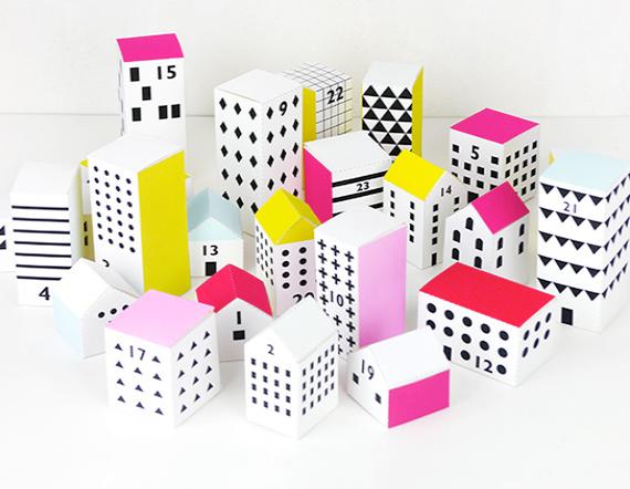 paper city christmas advent calendar cute craft