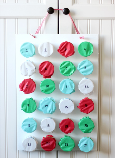 how to make a tissue punch advent calendar craft tutorial