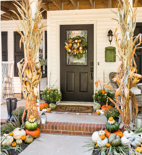 traditional fall porch holiday decor craft