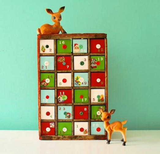 cute diy vintage soda crate advent calendar holiday craft