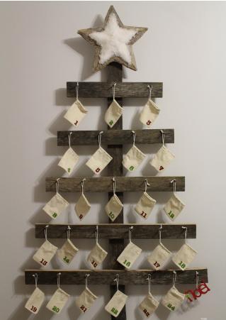 wall mounted advent calendar christmas holiday decor
