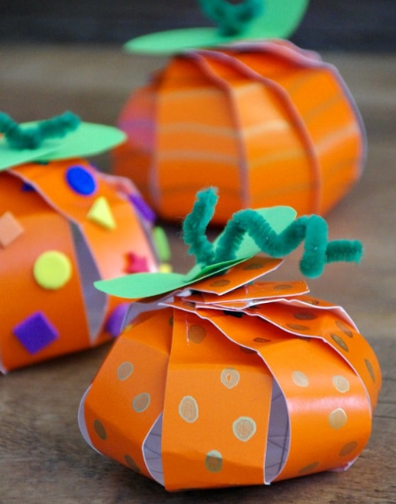 pumpkin paper plate holiday craft for kids
