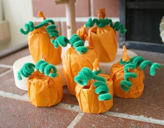 cardboard tube pumpkin holiday craft for kids