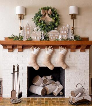 chipboard christmas village diy holiday decor