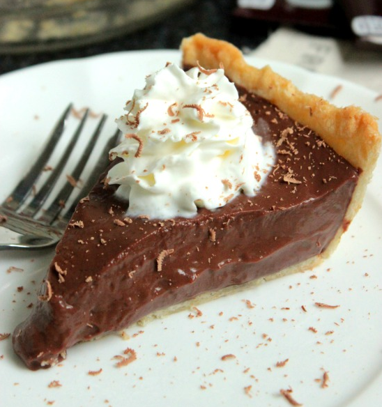 an old fashioned delicious chocolate pie for desserts