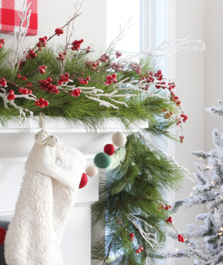 classic christmas mantel holiday home decor