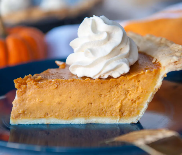 classic pumpkin pie with warm spices, creamy texture, and a crunchy crust